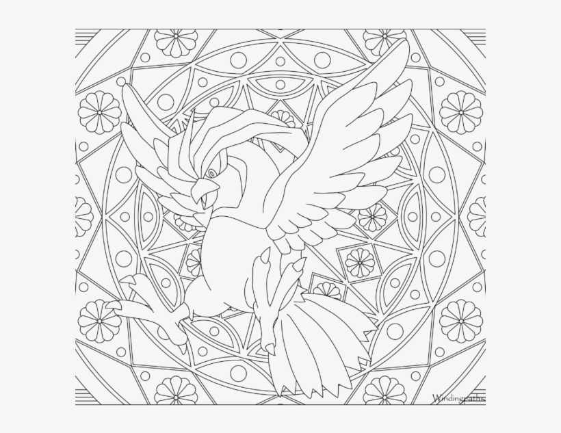 Adult Pokemon Coloring Page Pidgeotto Dragonair Colouring