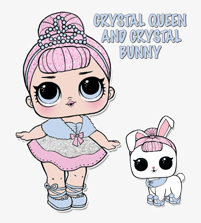 Lol Doll Coloring Pages Page Color Your - Lol Surprise Crystal Queen  Transparent PNG - 720x881 - Free Download On NicePNG