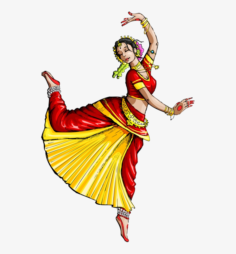 Dance In India Indian Classical Dance Drawing Dances Of India Drawing Transparent Png 533x800 Free Download On Nicepng