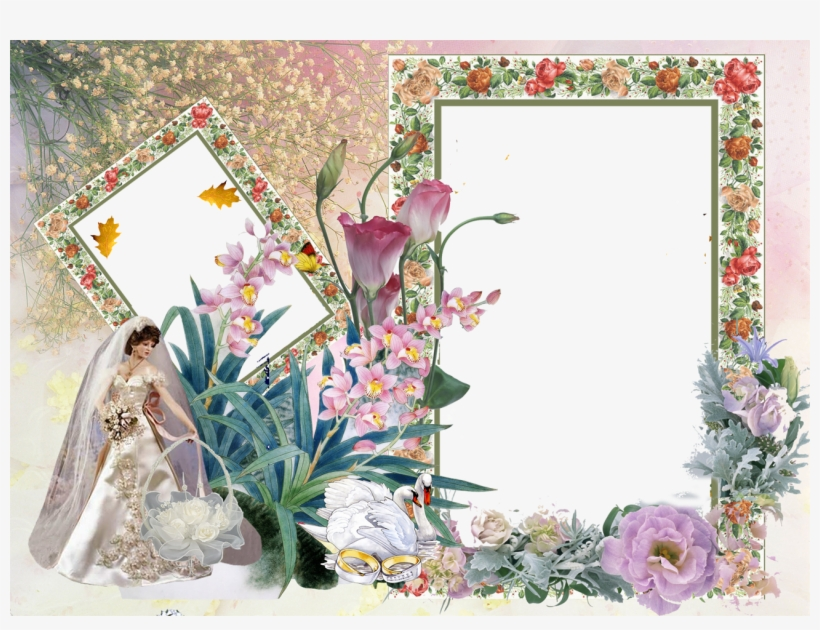 Psd Photo Templates Wedding Frame New Photo Frames Png Transparent Png 1300x936 Free Download On Nicepng