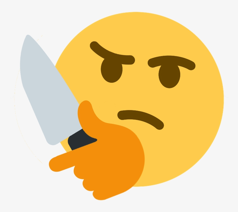 Stabs Discord Emoji Discord Thinking Emote Transparent Png 771x686 Free Download On Nicepng