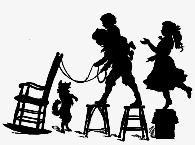 Child Silhouette Stock Illustrations, Cliparts And Royalty Free Child  Silhouette Vectors