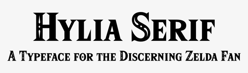 Hylian Serif Is A New Typeface Designed By Artsy Omni Hylian Serif Font Generator Transparent Png 772x163 Free Download On Nicepng