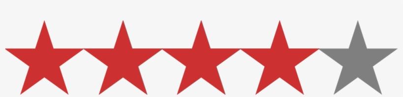 4 Star Rating 5 Stars Rating No Background Transparent Png