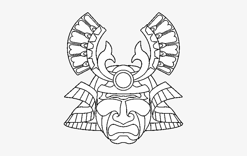 Samurai Mask Coloring Pages 2 By Amber