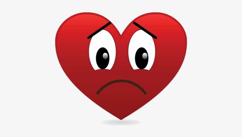 Sad Heart Png Image Background Heart With Sad Face Transparent Png 450x400 Free Download On Nicepng