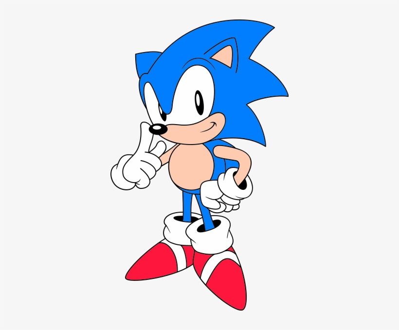 Classic Sonic Nose 73px Classic Sonic Artwork Transparent Png 366x598 Free Download On Nicepng