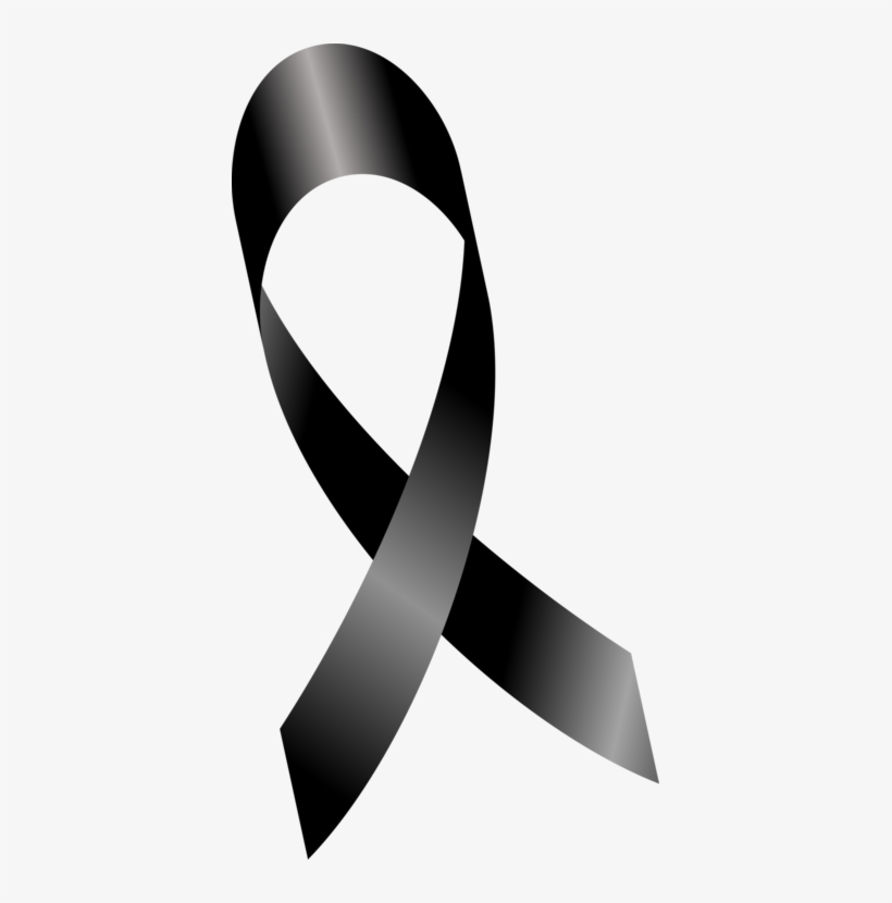 Mourning Awareness Ribbon Encapsulated Postscript Black Black Cancer Ribbon Png Transparent Png 393x750 Free Download On Nicepng