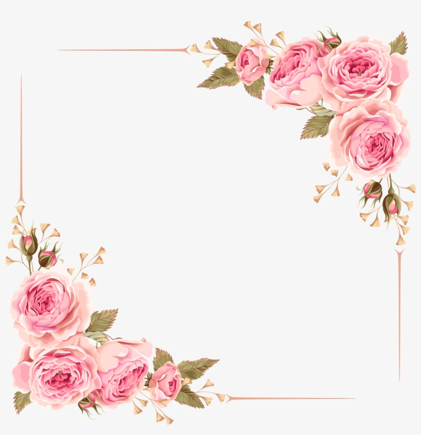 Rose Border Wedding Invitation Flower Borders Transparent Png