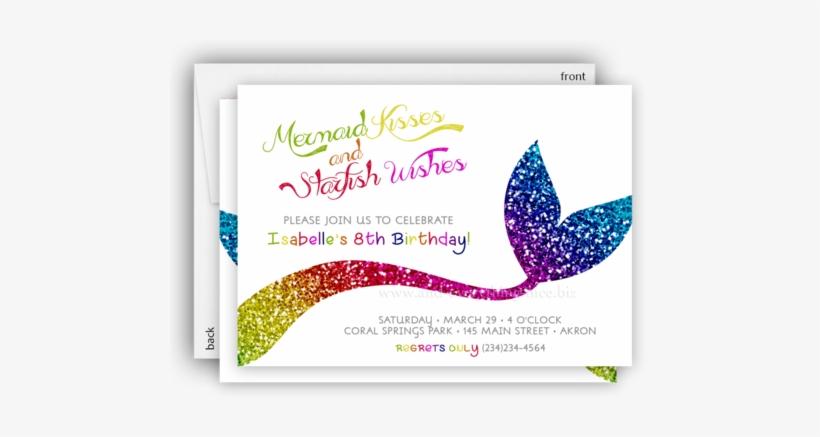 Rainbow Mermaid Tail Party Invitation