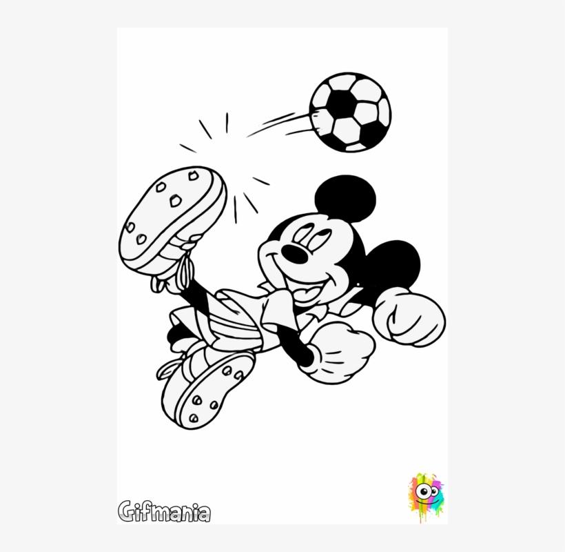 Mickey Futbolista Mickey Mouse Jugando Futbol Para