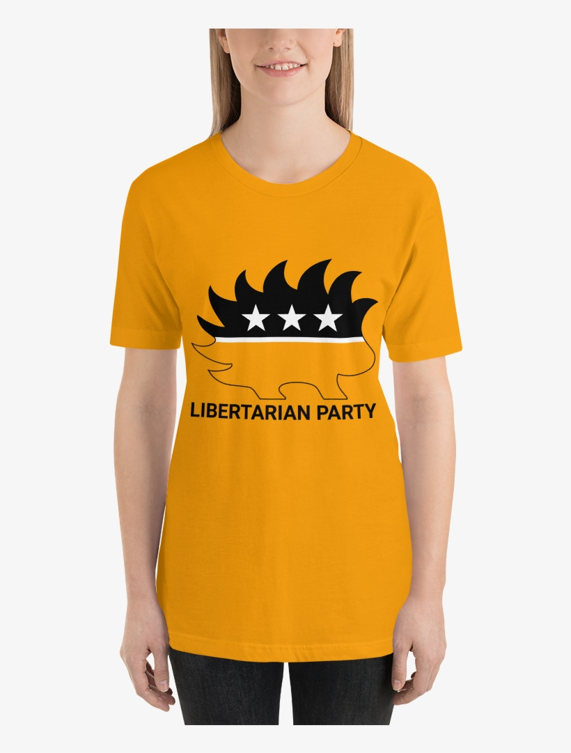 224493db3659 Ancap Porcupine T-shirt - Libertarian Party Square Sticker 3