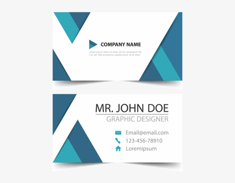 Blue Corporate Business Card Template For Free Download Graphic