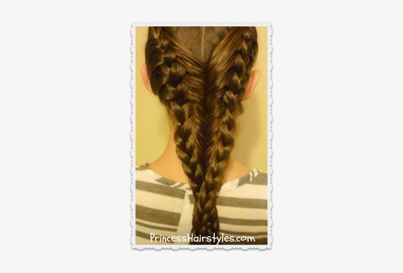 French Braids And Fishtail Braid Hairstyle Braid Transparent Png