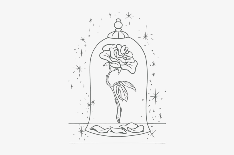 Children's Drawing, Sketches - Beauty And The Beast Colouring Pages  Transparent PNG - 372x500 - Free Download On NicePNG