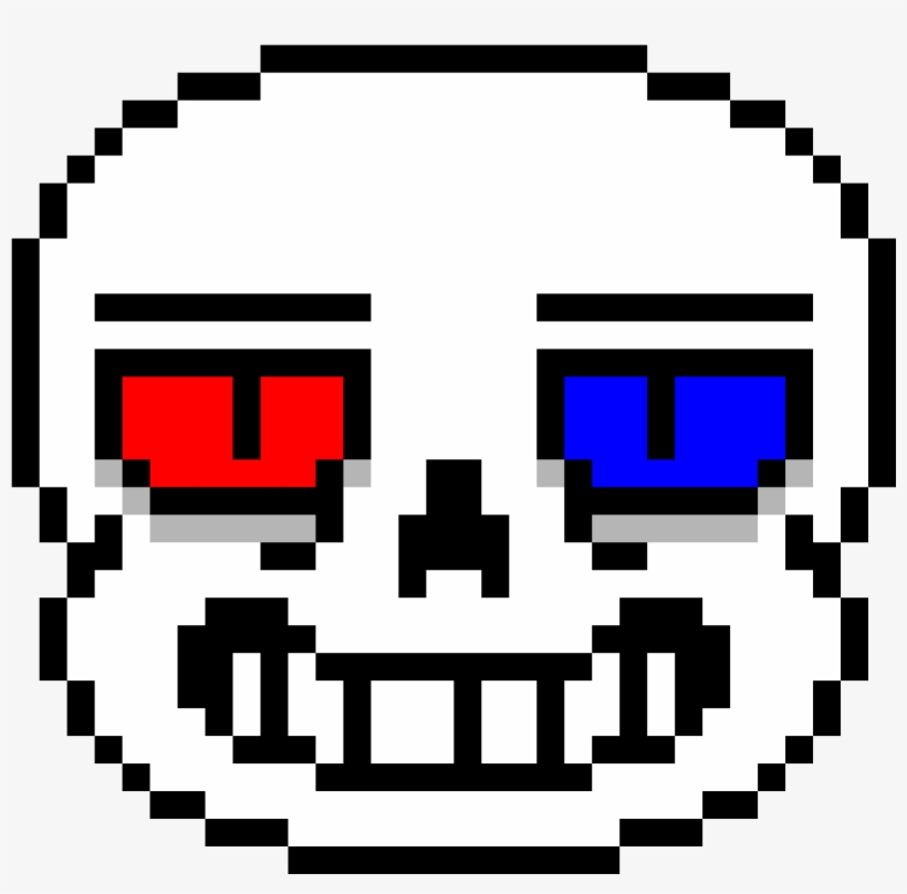 Mytale Sans Head Sans Pixel Art Transparent Png 1184x1184 Free Download On Nicepng