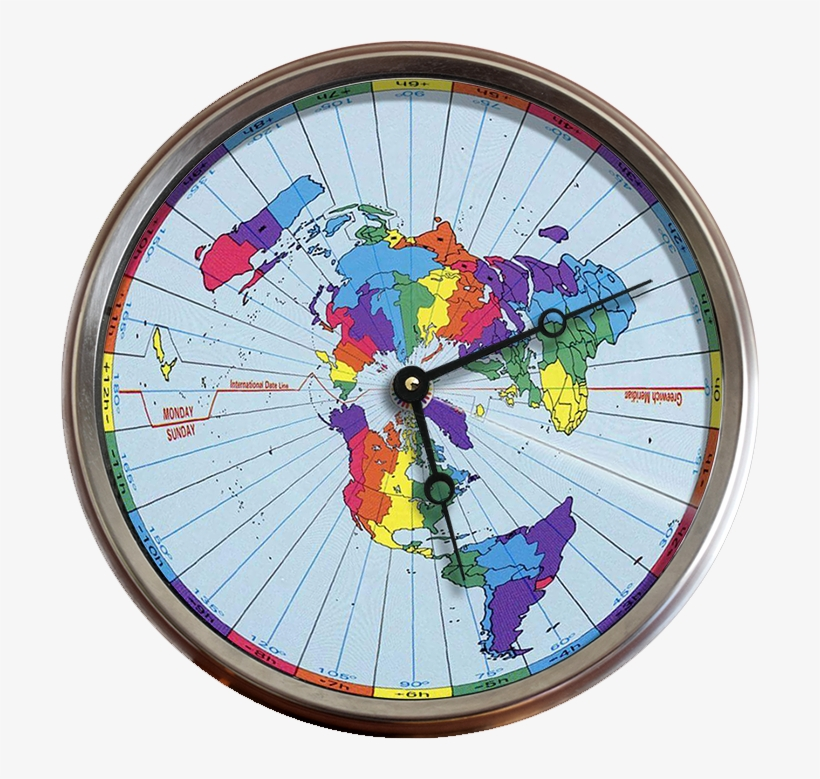 Greenwich Mean Time Zones Flat Earth Map 24 Hour Clock   Time Zone