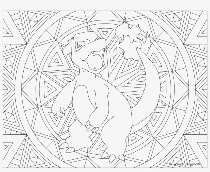Adult Pokemon Coloring Page Charmeleon Pokemon Colouring Pages