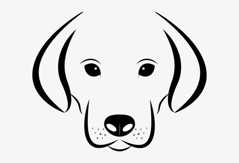 Dog Head White Background Dog Face Black And White Clip Art Transparent Png 598x480 Free Download On Nicepng