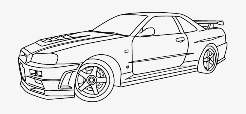 28 collection of nissan skyline gtr r34 coloring pages