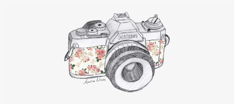 aaaf7d657f47 Vintage Camera Shared By Cydine On We Heart It - Camera Drawing ...