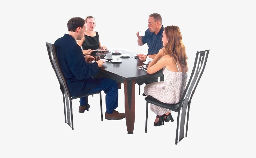 Dinner Png Download People Sitting At Table Png Transparent Png