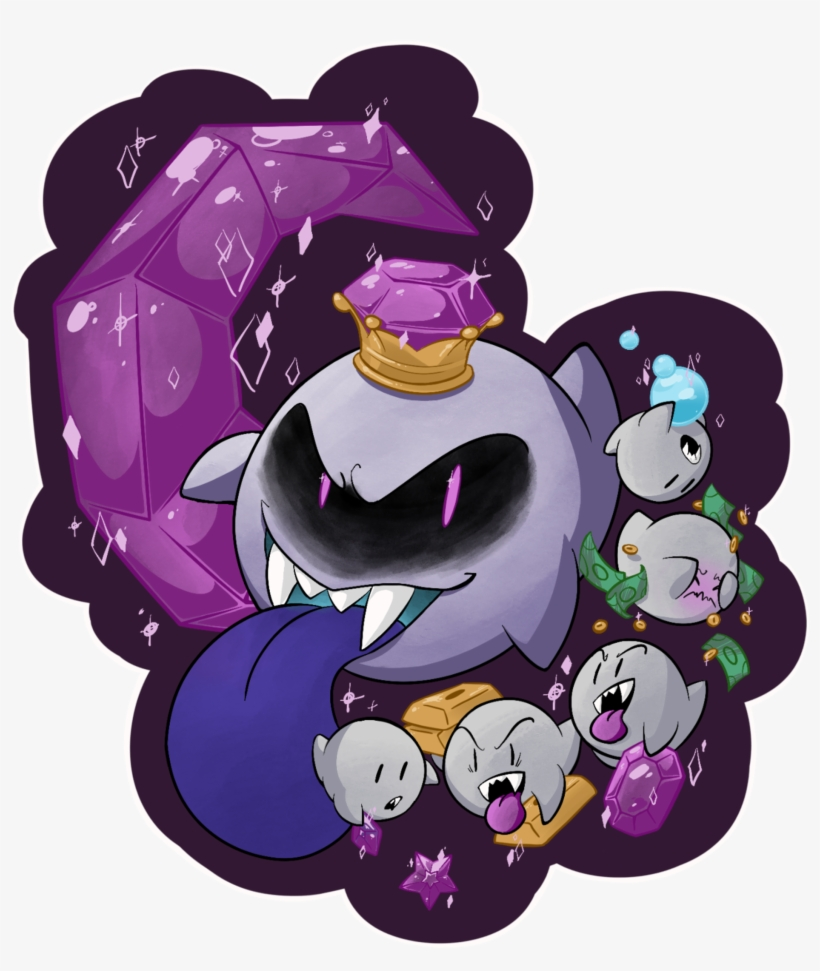 King Boo From The Luigi S Mansion Series A Long Luigi S