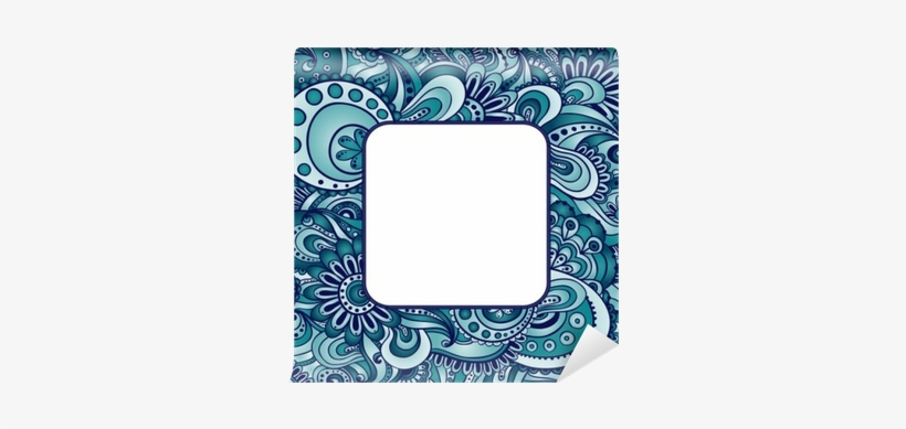 Abstract Vector Ethnic Pattern S Border Serving Tray