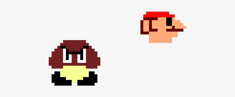 Goomba With Mario Head Pixel Art Transparent Png 1010x320 Free