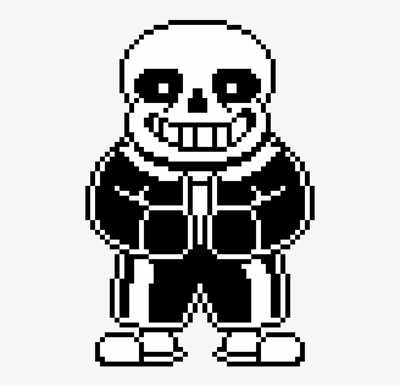 Custom Sans Battle Sprite By Drunkpotato Sans Battle Sprite Grid