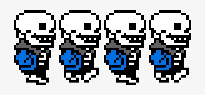 Undertale Sans Walking Sprite Sheet Pixel Art Maker - Sans