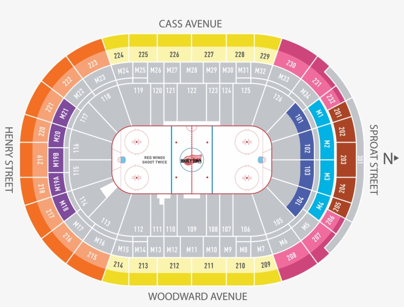 Partial Season Pricing Little Caesars Arena Seating Chart