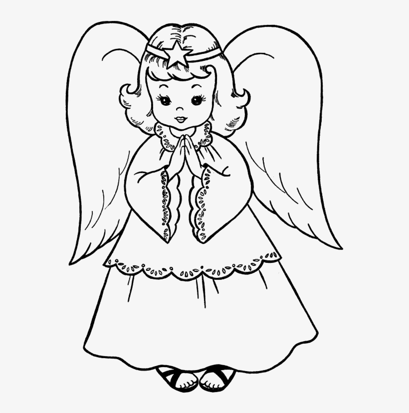 Angel Easy Drawing At Getdrawings Angel Image For Colouring Transparent Png 612x790 Free Download On Nicepng