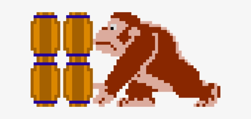 Weekend Gaming Chat Donkey Kong Pixel Transparent Png