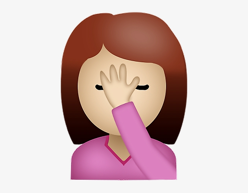 Report Abuse - Emoji Girl Face Palm Transparent PNG