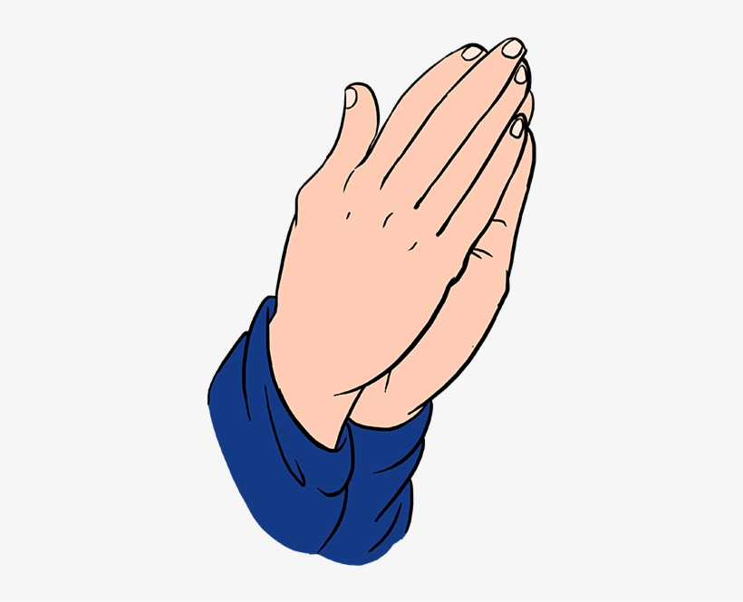How to draw praying hands really easy drawing tutorial.