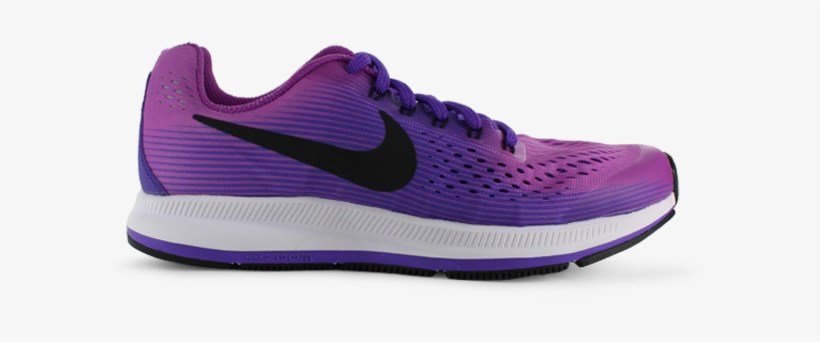 c21b40344d965 Nike Zoom Pegasus 34 Gs Kids Hyper Violet Black - Shoe Transparent ...