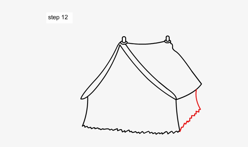 Learn How To Draw A Tent For Kids Step By Step Kids Easy Tent