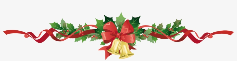 Poinsettia Garland Clipart Christmas Garland Bells Christmas Page