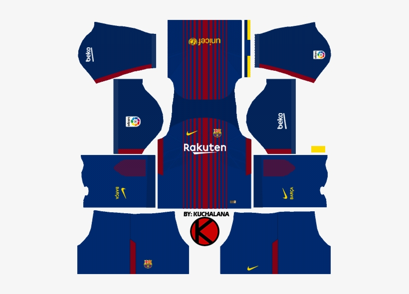 cheap for discount 83b5a f8334 Barcelona Nike Home Kits 2017/2018 - Dls 18 Kits Barcelona ...