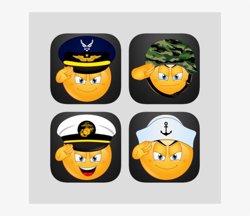 Military Emoji Sticker Bundle - Green Camouflage 2oz Gold