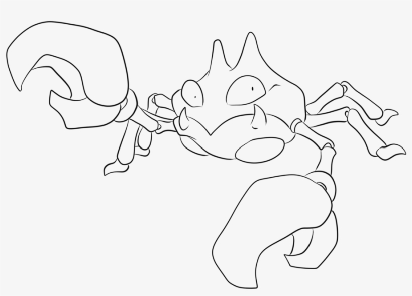 098 Krabby Lineart By Lilly Pokemon Krabby Para Colorir
