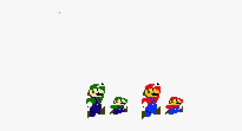 Mario And Luigi Jumping Sprites Super Mario Transparent Png