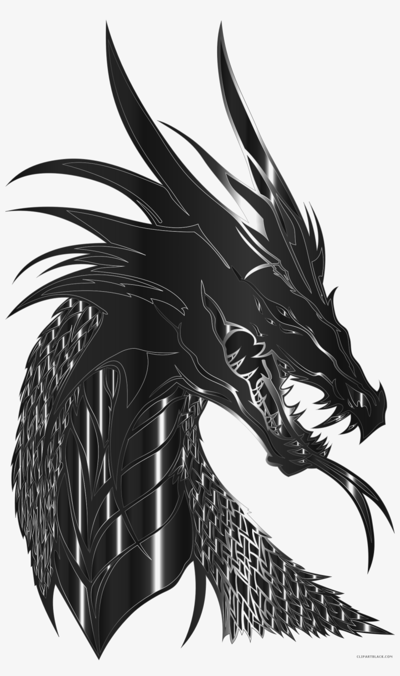 Dragon animal free black white images clipartblack dragon silhouette png