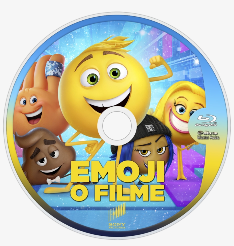 The Emoji Movie Bluray Disc Image Dvd The Emoji Movie 2017 Cover Transparent Png 1000x1000 Free Download On Nicepng