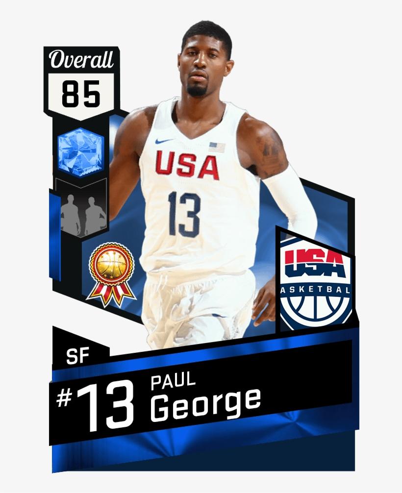 e66b8aa8f28 Paul George - Derrick Rose Nba 2k17 Transparent PNG - 651x941 - Free ...
