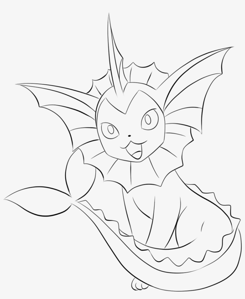 134 Vaporeon Lineart By Lilly Gerbil Vaporeon Coloring Pages