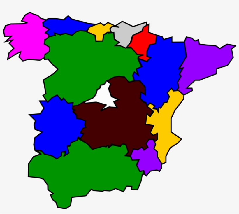 Map Of Spain Drawing.Autonomous Communities Of Spain Map Drawing Download Regions
