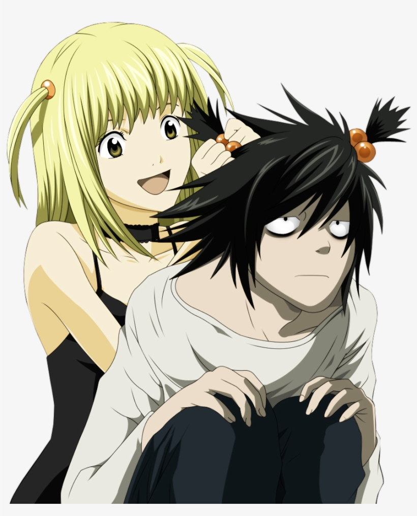 L From Death Note Pictures L Lawliet And Misa Amane Transparent