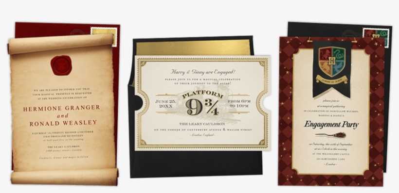 Harry Potter Evite Wedding Invitations